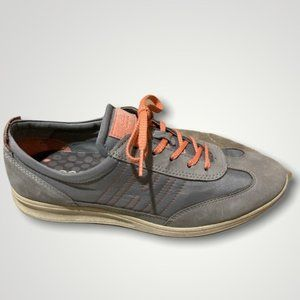 Ecco Grey Lace-Up Walking Sneakers 8